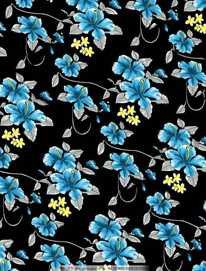 花卉 花布 底纹边框 背景底纹 布纹 设计图库 300dpi jpg