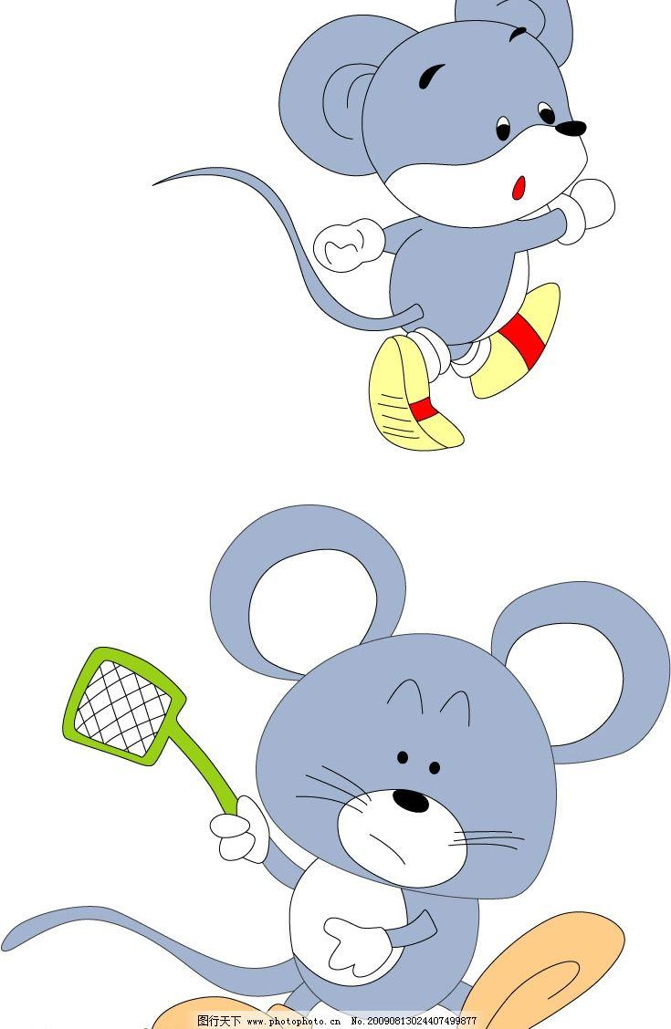老鼠 跑步 蓝色 可爱 生物世界 野生动物 矢量图库 cdr