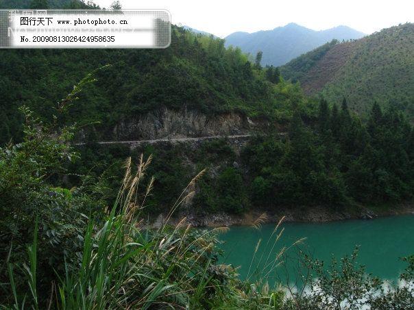 青山 群山 摄影图 水中倒影 浙江 浙江旅游风景图片 青山 绿水 绿树