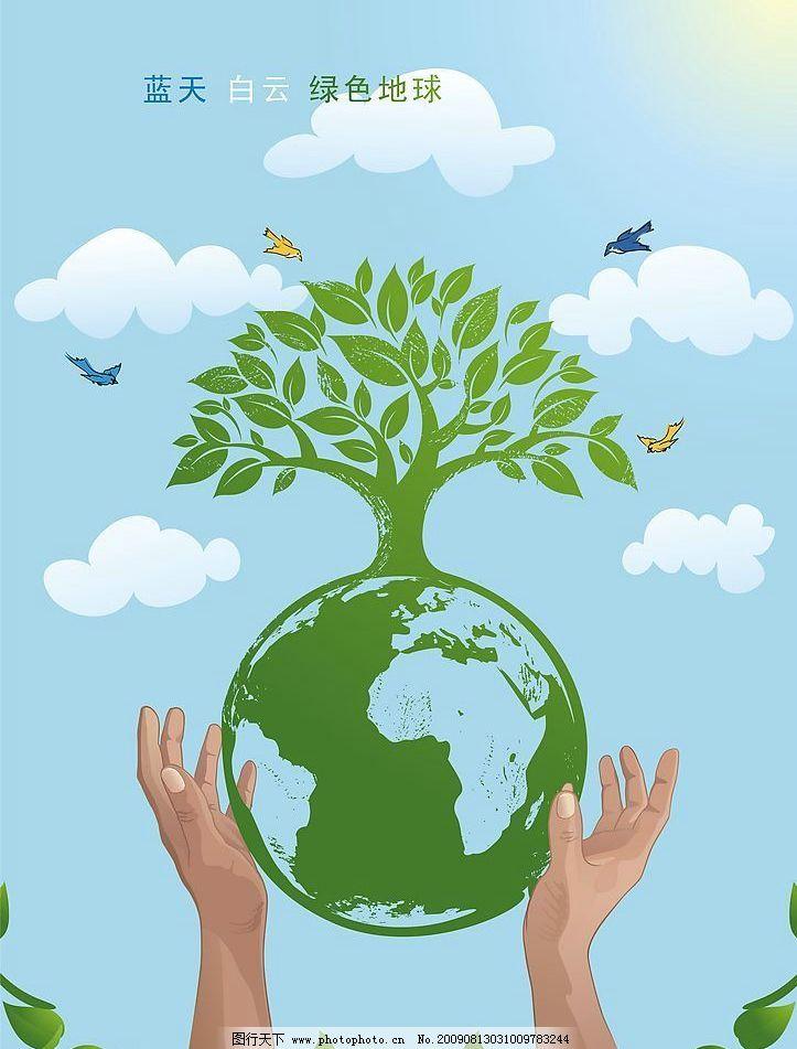 环保宣传画图片