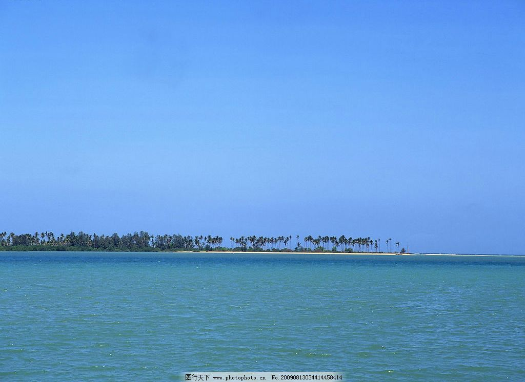 碧海蓝天 蓝天 大海 热带风光 自然景观 山水风景 摄影图库 350dpi