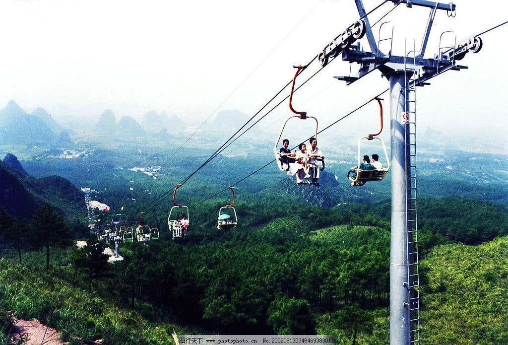 尧山缆车 桂林 尧山 缆车 自然景观 风景名胜 摄影图库 300dpi jpg