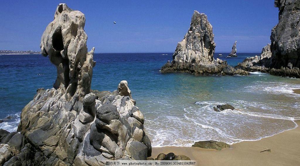海边礁石 海边 礁石 沙滩 海浪 海岸 自然景观 自然风景 摄影图库 72