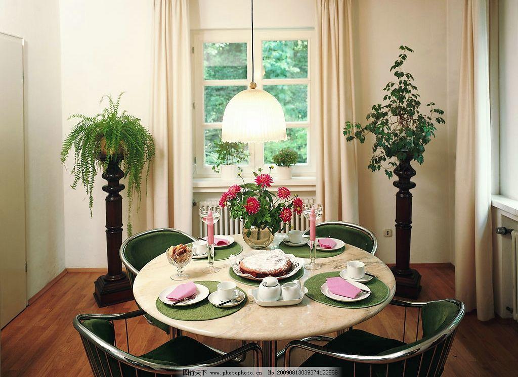 室内 温馨 装饰 装修 装潢 欧式 时尚 简约 绿色 餐桌 花 高级 豪华