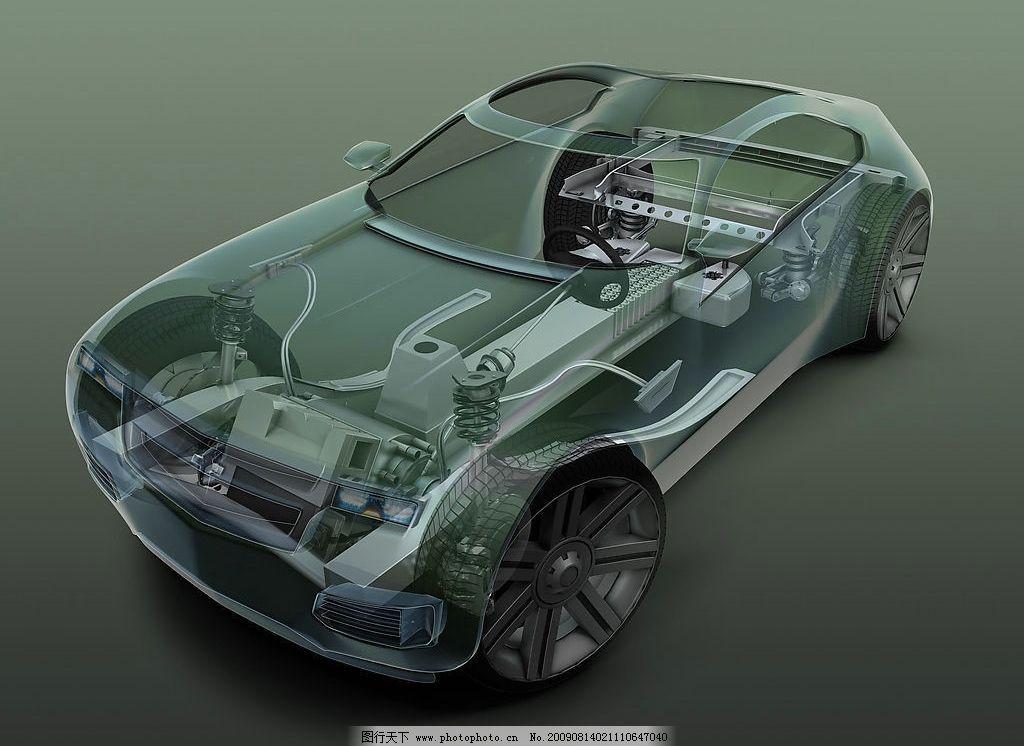 充电汽车内部结构图图片