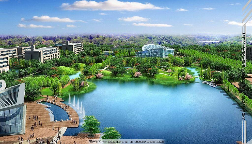 校园水体设计 校园 水体 景观 生态 环境设计 建筑设计 设计图库 72
