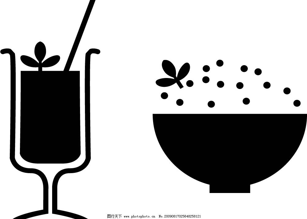 米饭 饮料 餐饮美食 矢量图库 ai