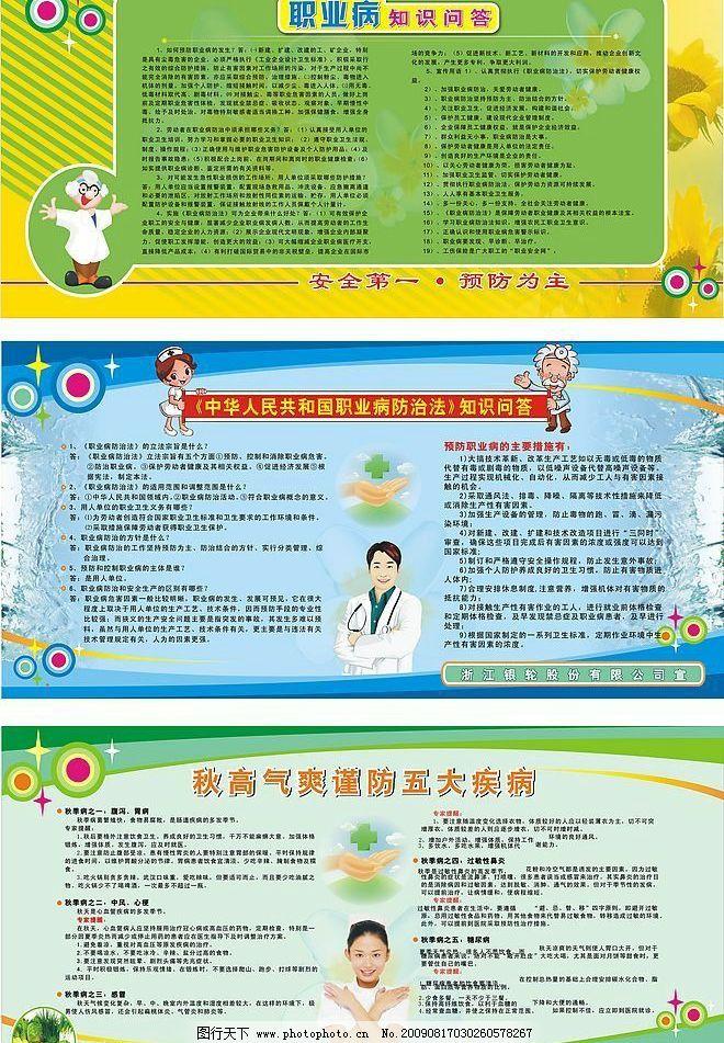 宣传栏设计 职业病预防 卫生防疫知识 广告设计 展板模板 矢量图库