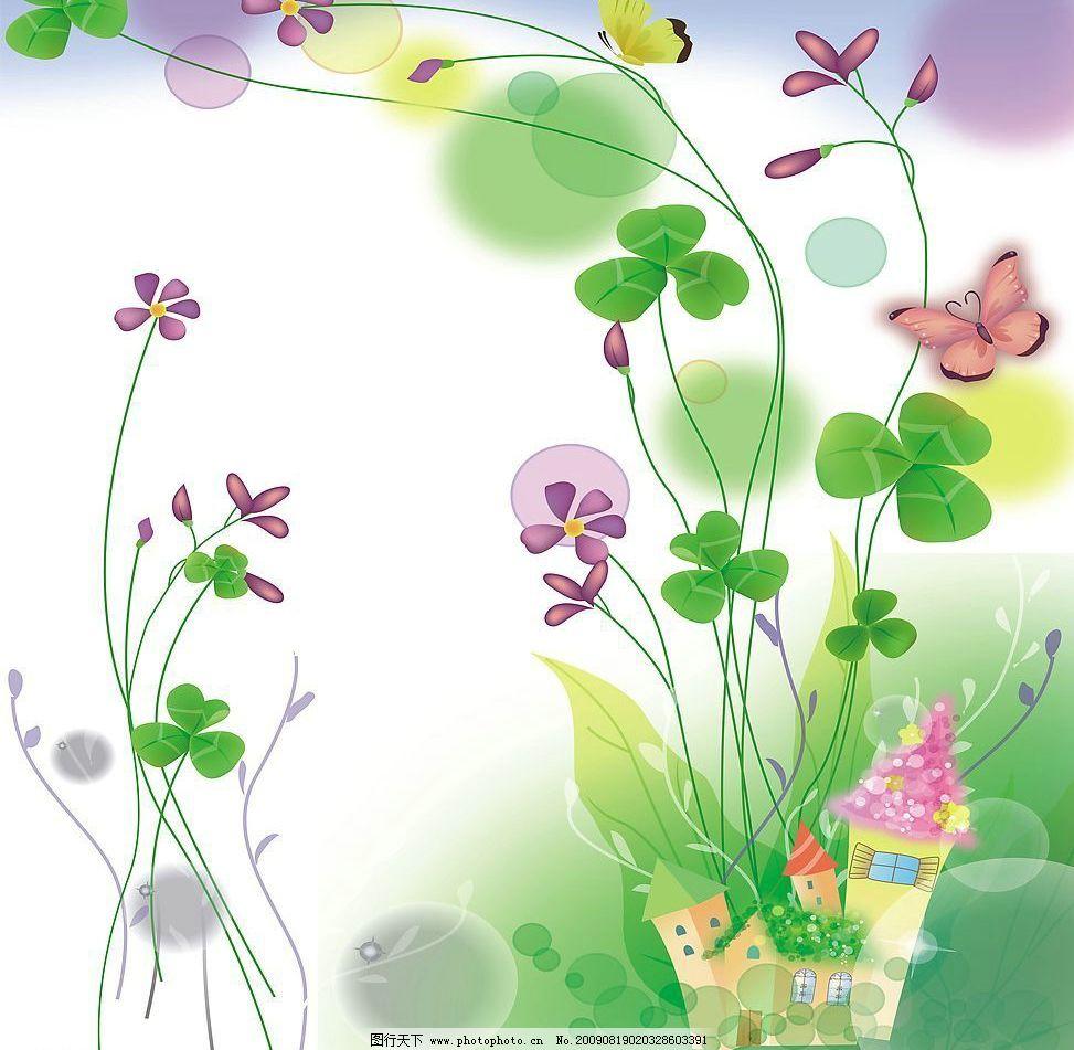 花间私语 玻璃移门图案 花案 花朵 动漫动画 风景漫画 设计图库 72dpi