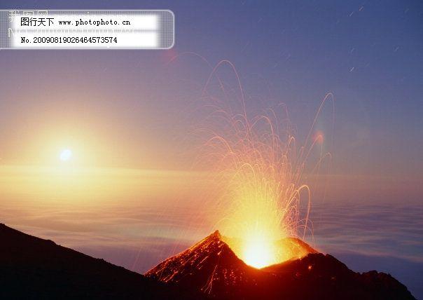 火山 火山免费下载 背景 落日 图片素材 风景生活旅游餐饮