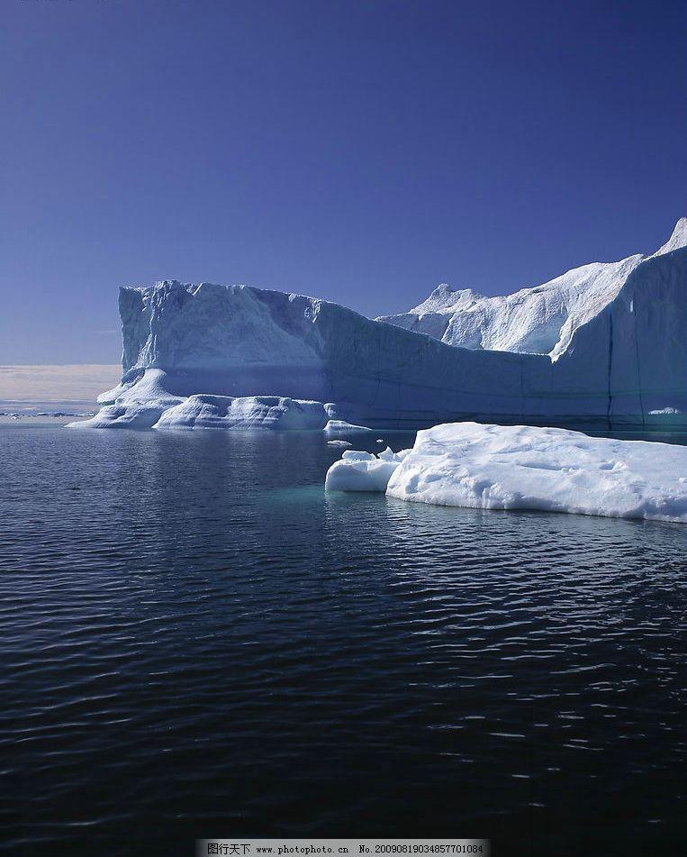 冰山 冰雪 海 海水 天空 海空 冰岛 冬季 自然景观 自然风景 摄影图库
