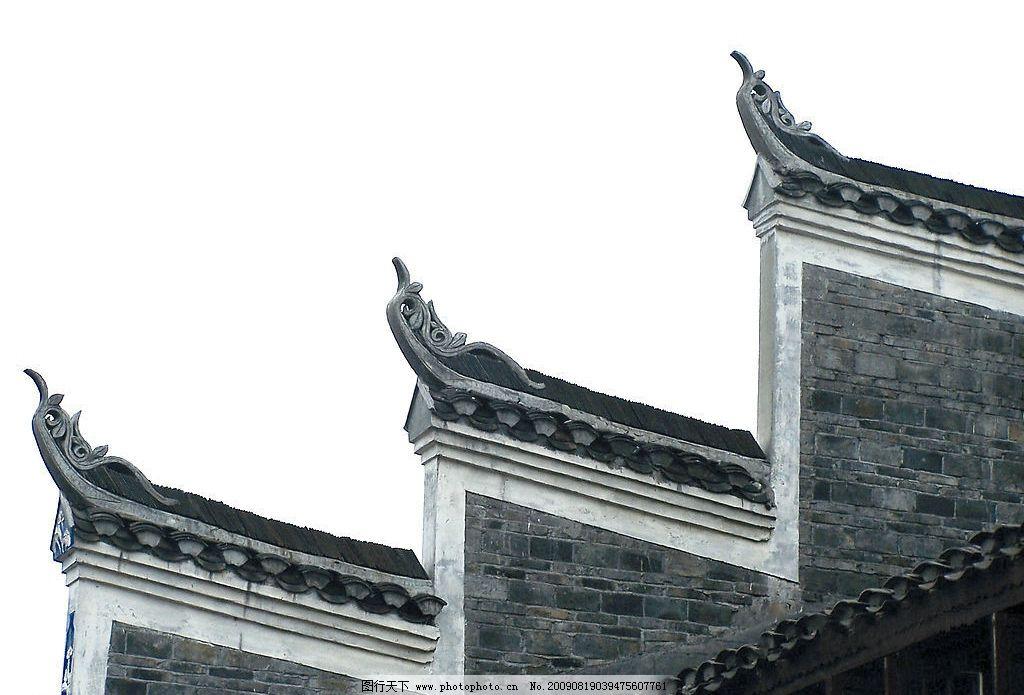 徽式飞檐 飞檐 徽州建筑 屋角 青砖墙 建筑园林 建筑摄影 摄影图库图片