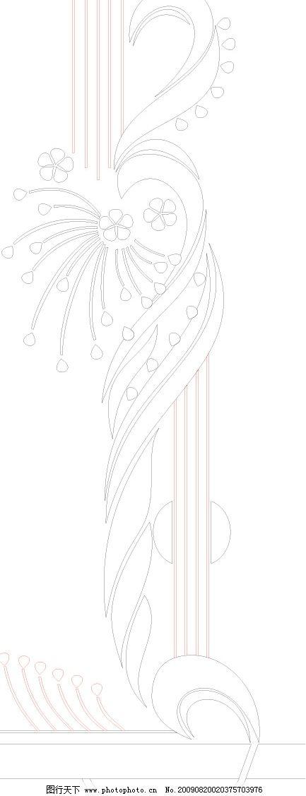 雕刻 冰雕 花纹 叶子 线条 矢量图 底纹边框 花纹花边 矢量图库
