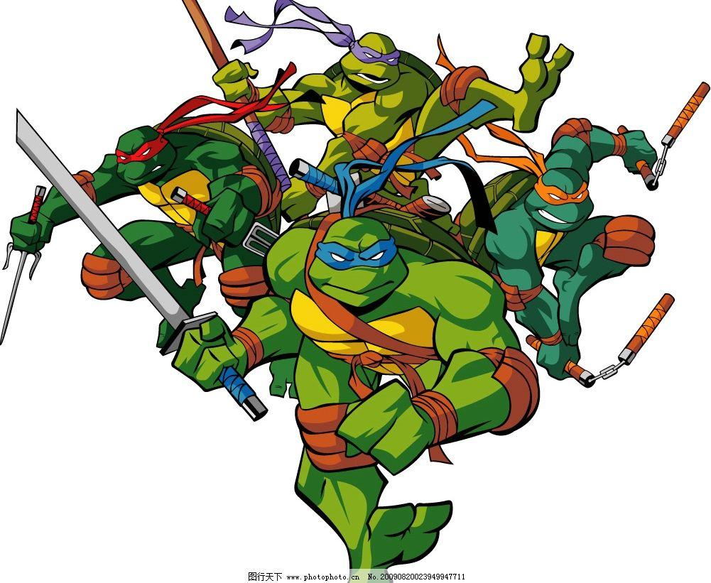 忍者神龟 其他矢量 矢量素材 矢量图库 矢量人物 其他人物 ai