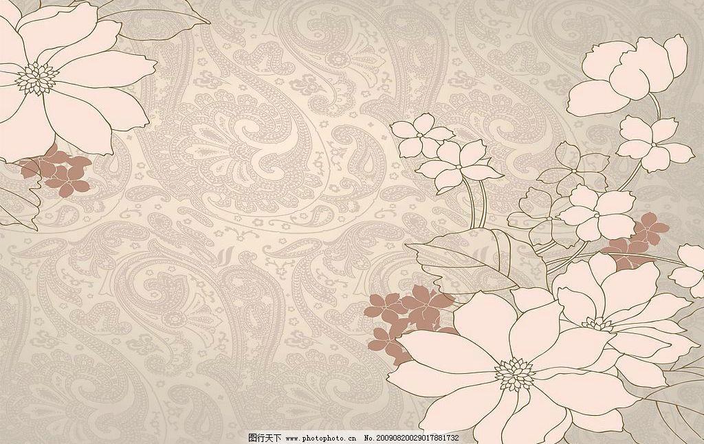 欧式风情 玻璃移门图案 花案 底纹边框 花边花纹 设计图库 72dpi jpg
