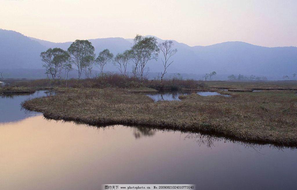 湿地 山水 纯净 超脱 自然 仙境 自然景观 自然风光 设计图库 72dpi