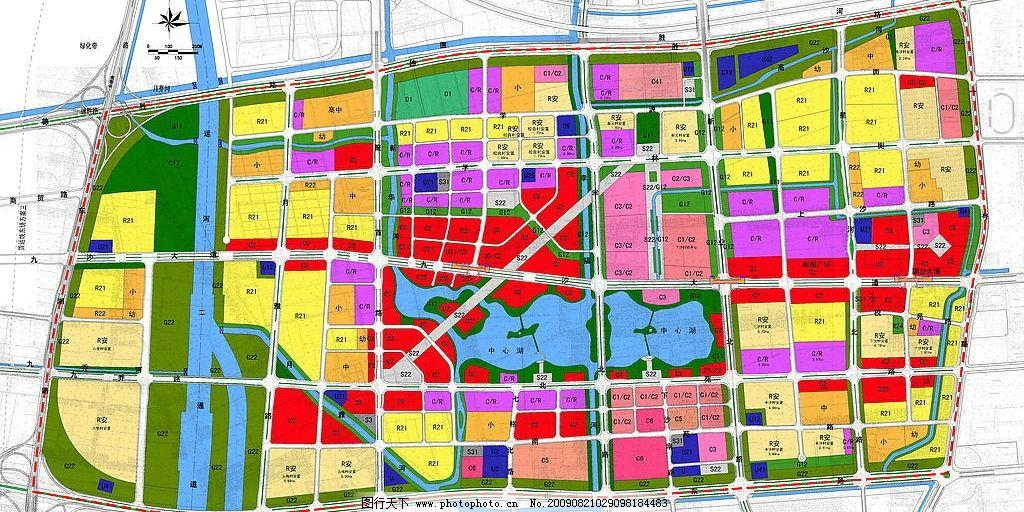 杭州下沙中心区规划图 杭州 下沙 下沙中心区 规划图 环境设计 其他