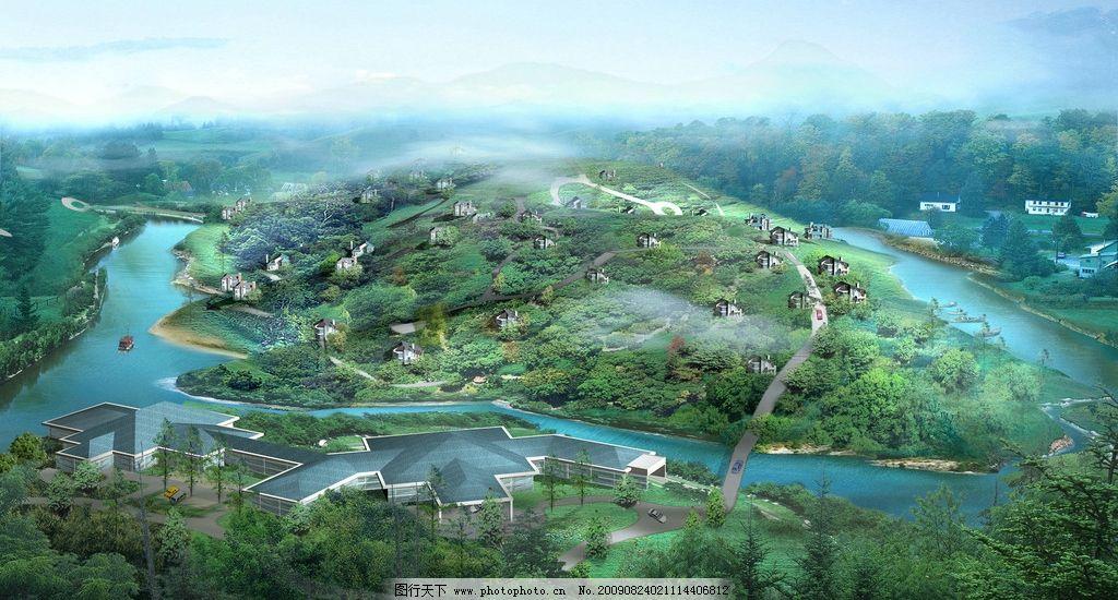 山顶别墅规划图片
