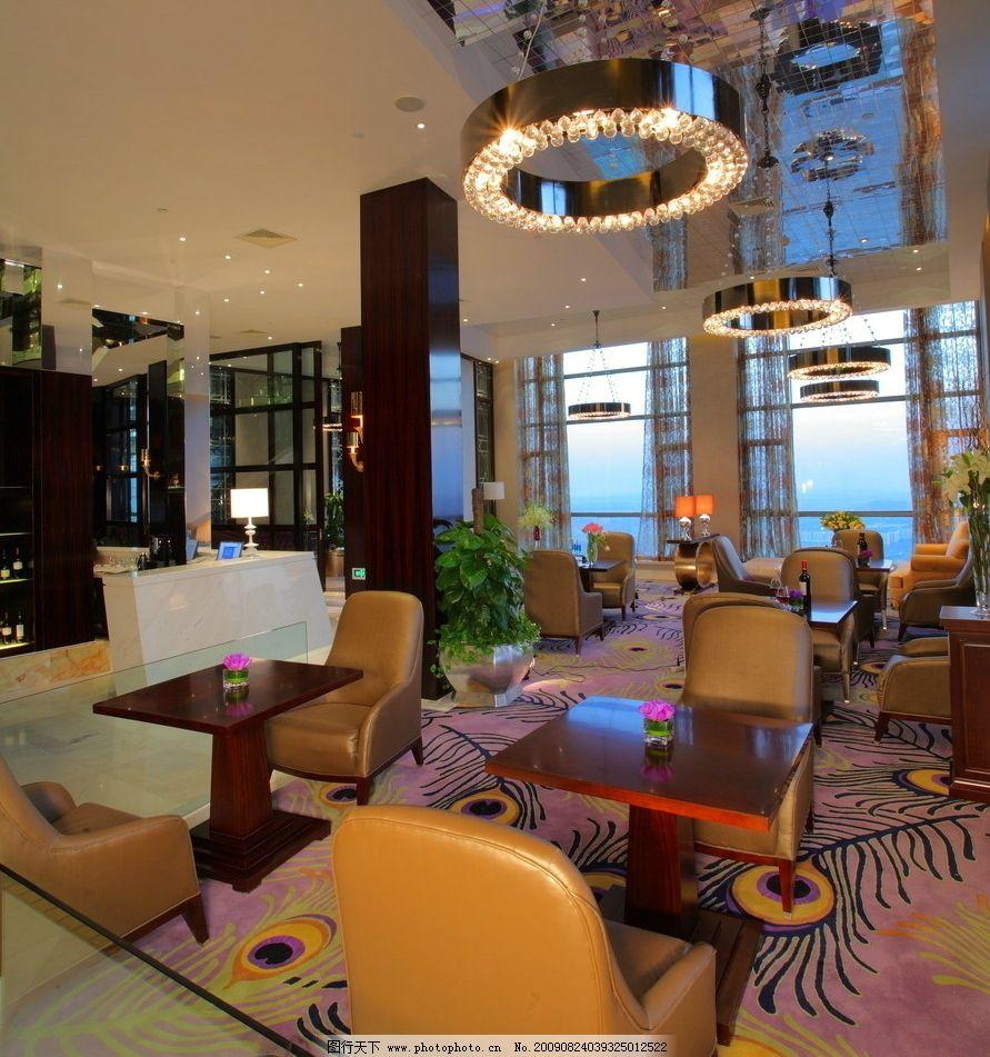商务酒店 吊灯 沙发 五星酒店 休闲 现代建筑 现代装饰 商务素材 室内