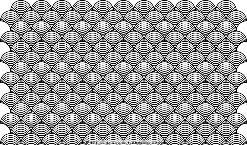 扇形贝壳 矢量图 花边底纹 底纹背景 底纹边框 cdr