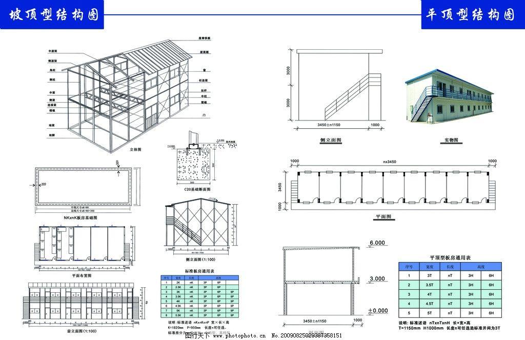 活动板房画册内页 板房结构图 活动板房结构图 结构示意图 画册设计
