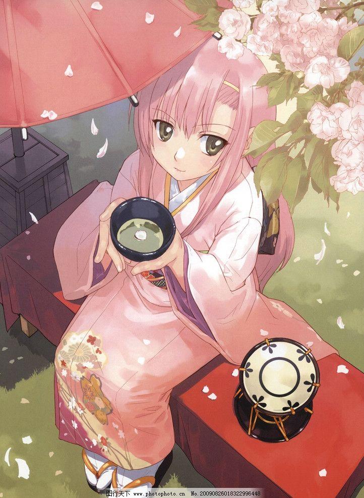 动漫 日本和服 日本动漫 浴衣文化 可爱女生 日本萌图 动漫动画
