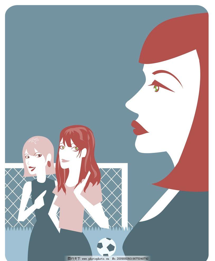 剪贴画 插画 女性 足球 龙门图片