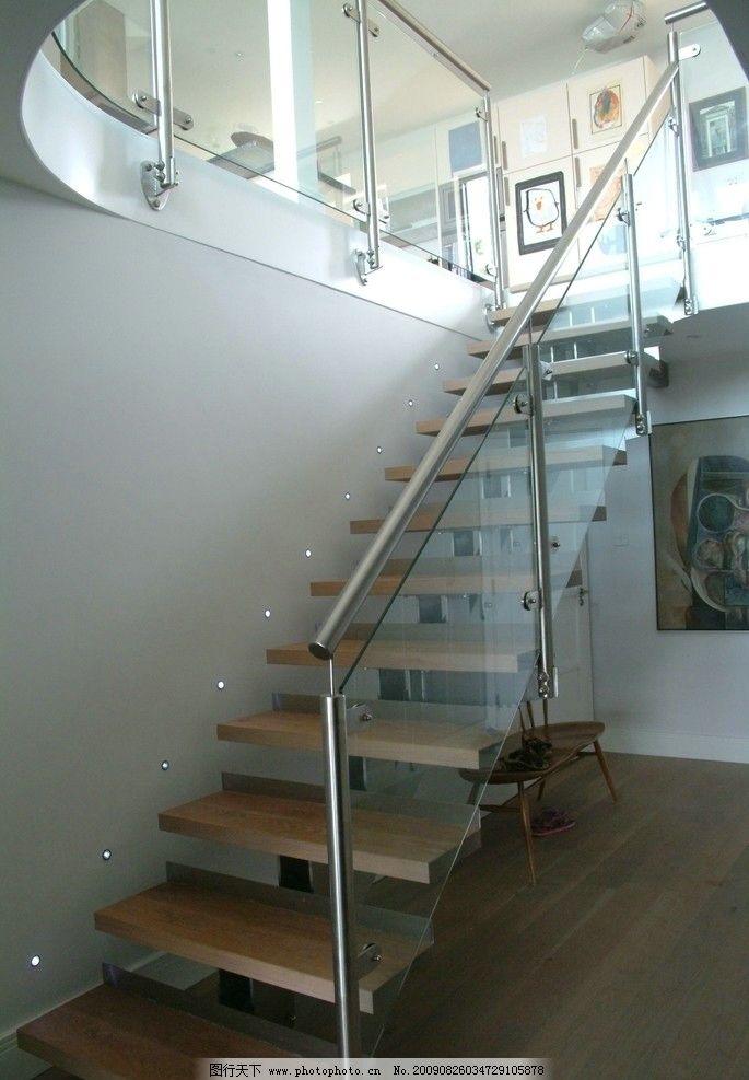 楼梯 玻璃扶手图片