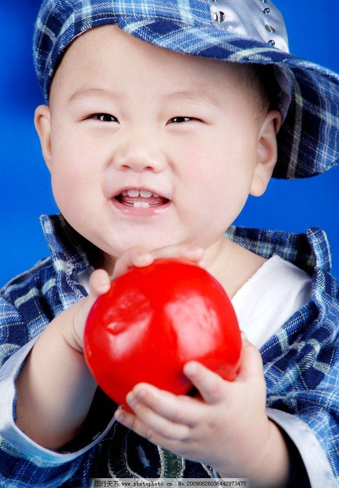 可爱宝宝 儿童 苹果 人物图库 儿童幼儿 摄影图库 300dpi jpg 可爱
