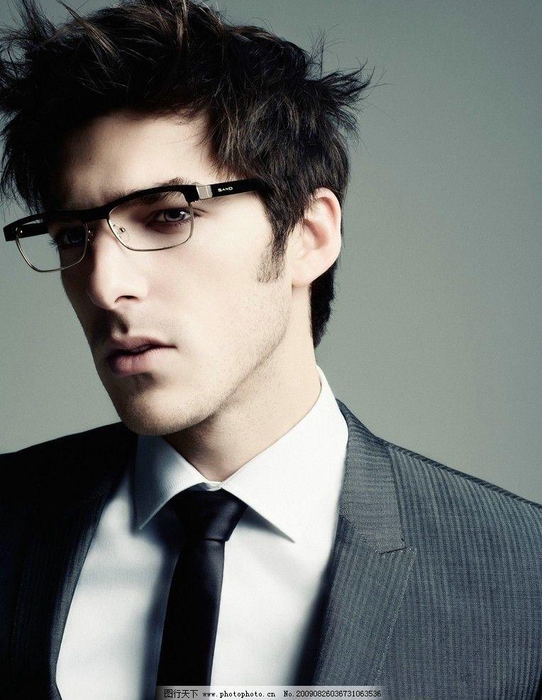 带眼镜的白领男人 戴眼镜 戴眼镜的男人 男模 帅哥 模特 个性 帅气 男