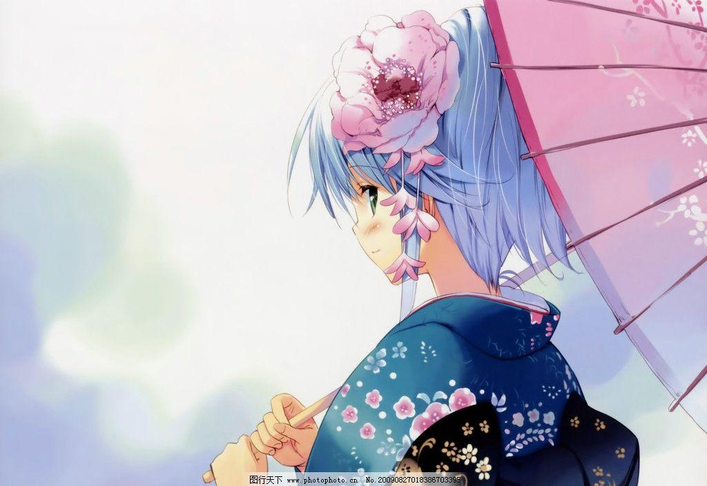动漫和服 日本和服 日本动漫 浴衣文化 可爱女生 日本萌图 动漫dress