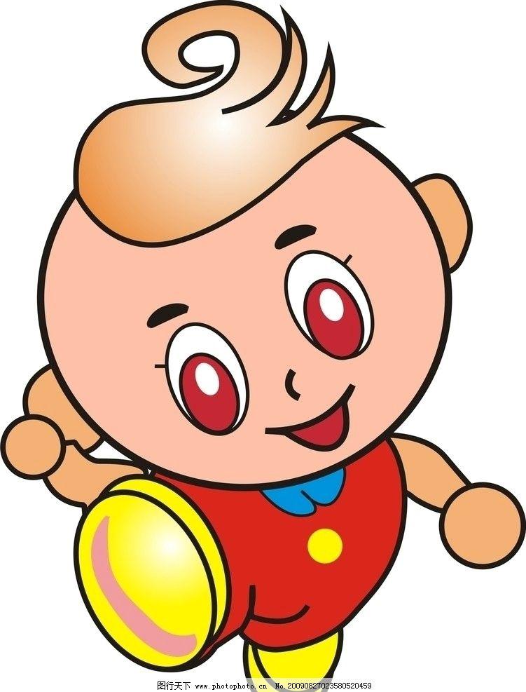 卡通娃娃 儿童幼儿 矢量人物 cdr