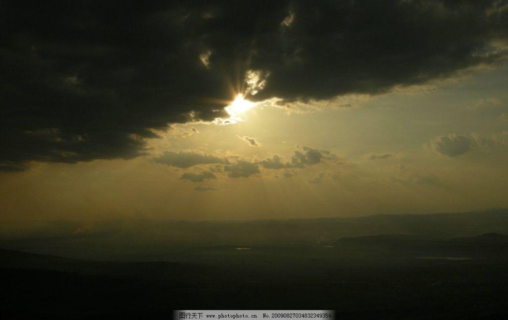 乌云遮日 晨曦 阳光 自然风景 自然景观 摄影 300dpi jpg