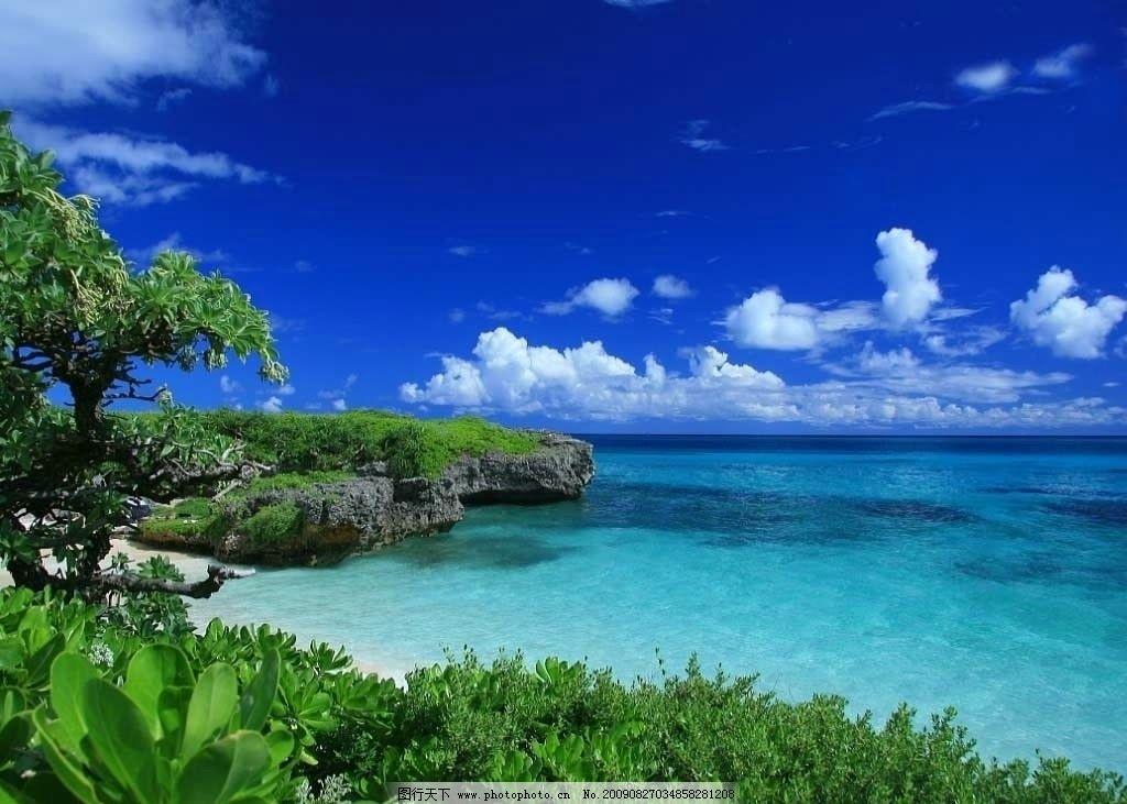 海岛 海滩 植被 墙纸 自然风景 自然景观 摄影 72dpi jpg
