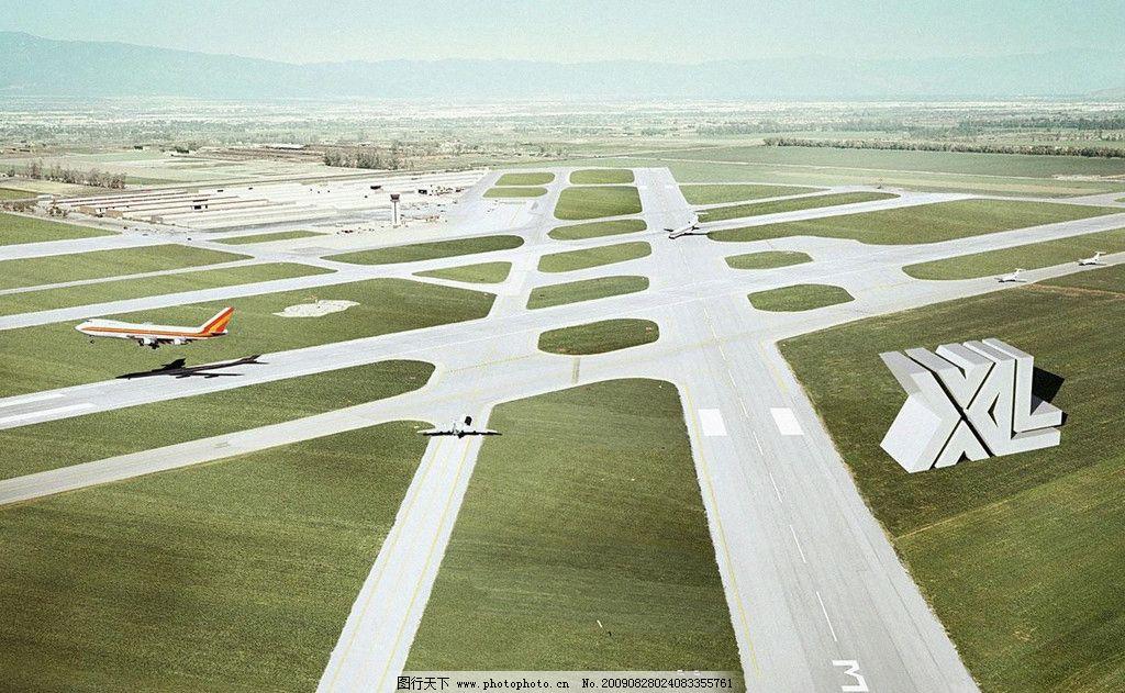 飞机场全景图片