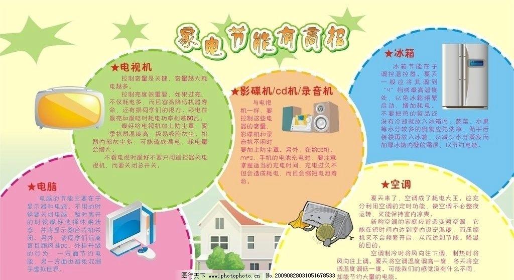 节电 节约用电 家用电器 其他设计 广告设计 矢量 cdr