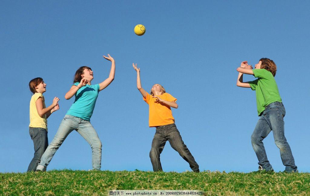 打球儿童 快乐 愉快 小孩 幸福 开心 儿童幼儿 人物图库 摄影