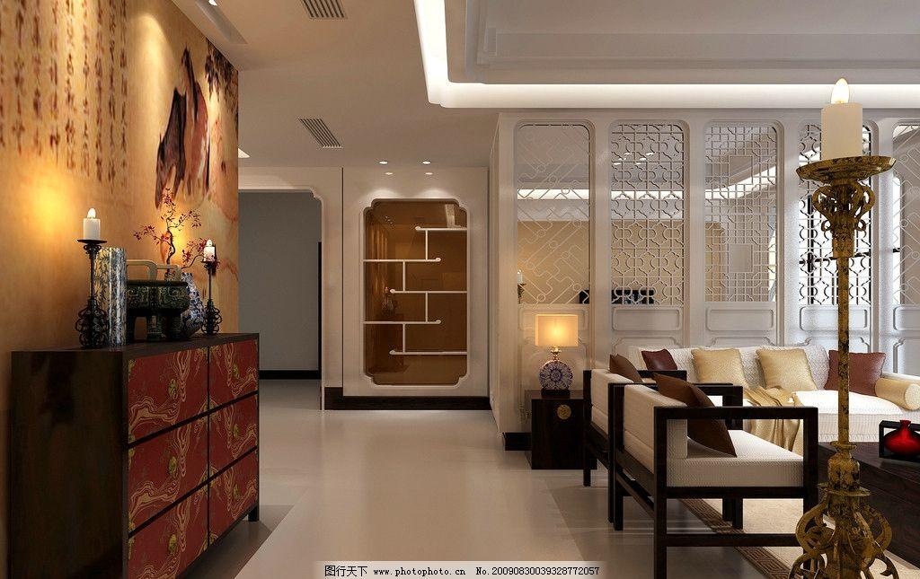 中国风客厅 家装 装修 装潢 建筑园林 居家 效果图 家居装潢