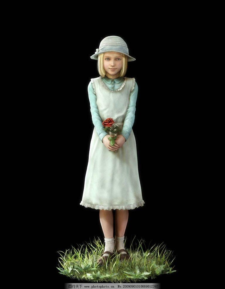 可爱小女孩 3d图片 3d设计 游戏人设 游戏人物 设计图片 可爱性感 cg