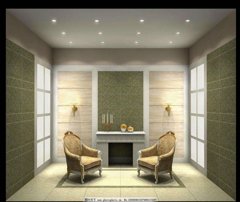 客厅效果图 欧式客厅效果图 沙发 壁炉 室内效果图 室内摄影 建筑园林