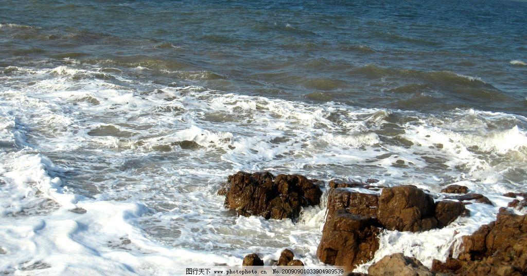 海浪 海浪拍岸 白色 浪花 海景 海岸 普陀山 大海 海风 国内旅游 旅游