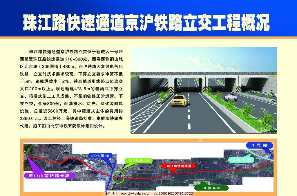 展板效果图 精美广告展板 规划图 汽车 宣传牌 卫星