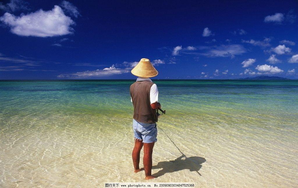 海边 海钓图片