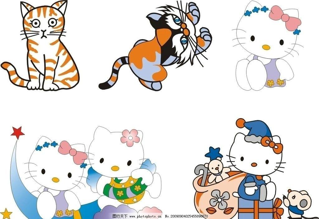 卡通小猫 小老鼠 小动物 其他生物 生物世界 矢量 cdr