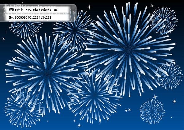璀璨烟花矢量素材7 其他矢量图 色彩斑斓 烟火 节庆 新年 缤纷