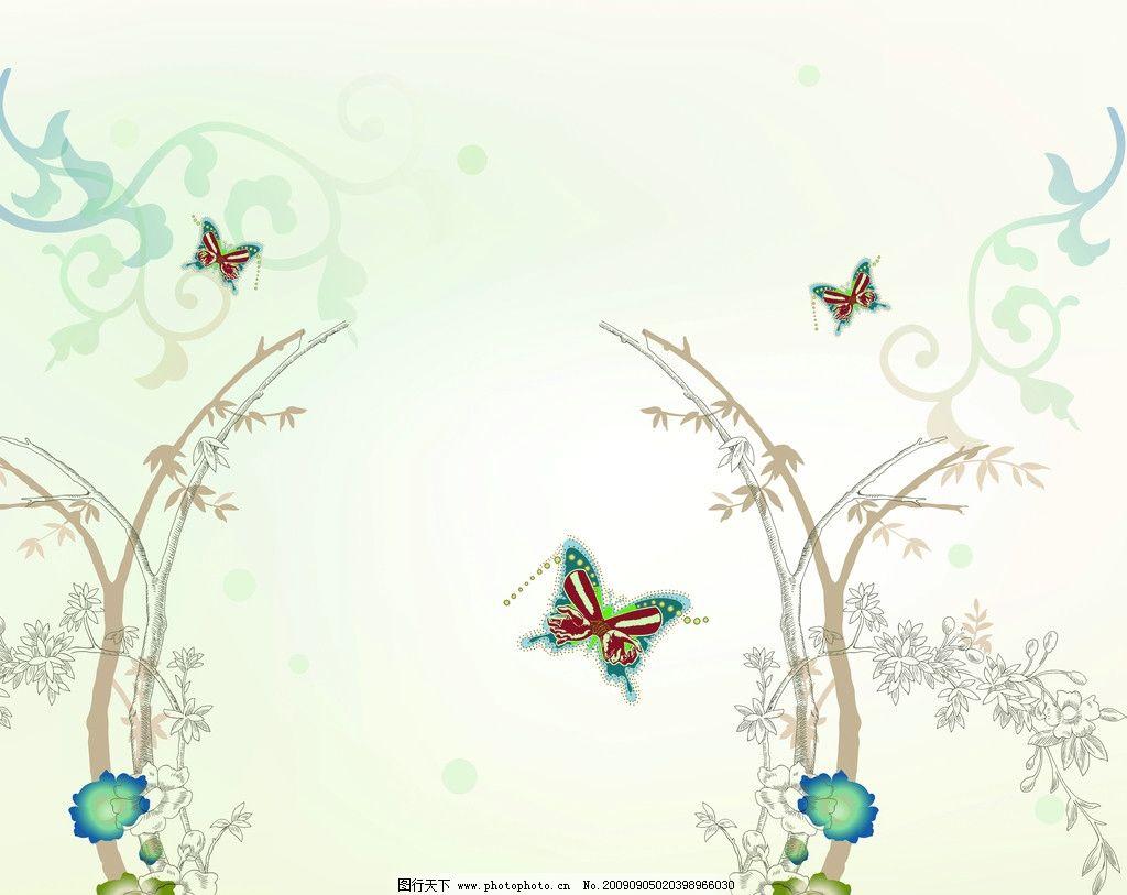 蝴蝶与花 手 梅花 树 花纹 移门 花边花纹 底纹边框