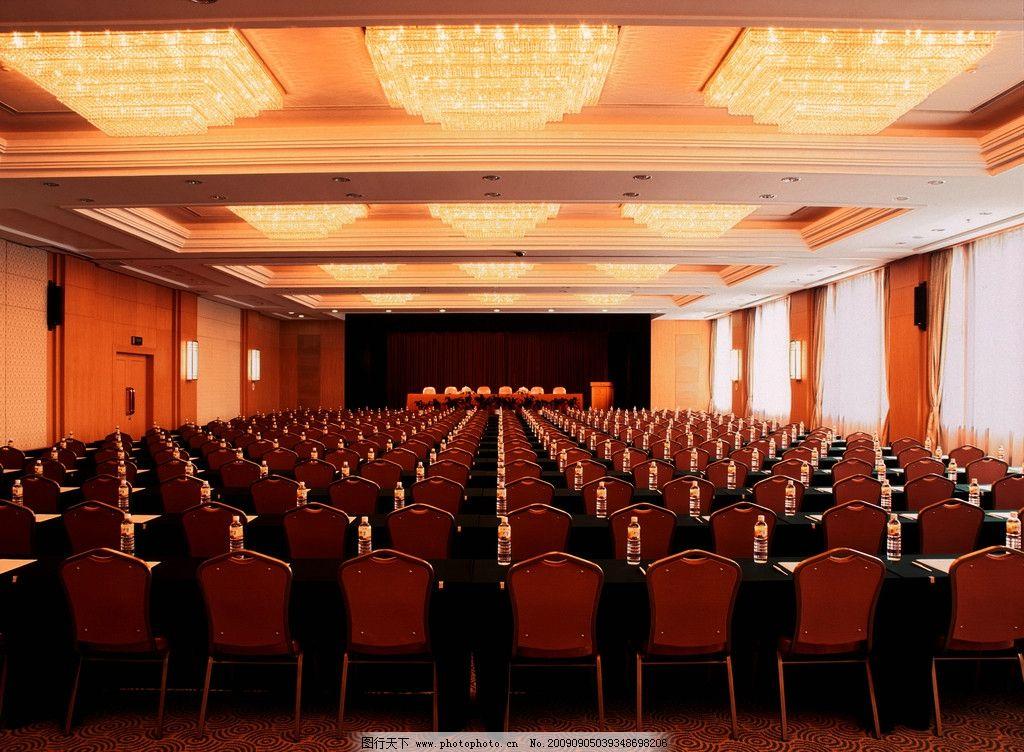 大会堂 吊顶 吊灯 桌子 椅子 天花板 会议室 会议桌 装饰画 商业空间