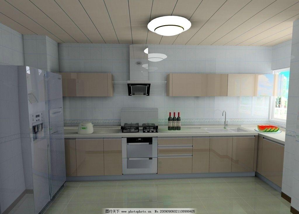 橱柜 橱柜设计 经典蓝色 冰箱 厨房立体设计 玻璃质感 整体橱柜 经典图片