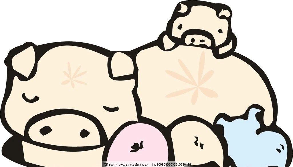 喜庆猪 吉祥猪 发财猪 猪博士 各种猪图 生物世界 家禽家畜 矢量图库
