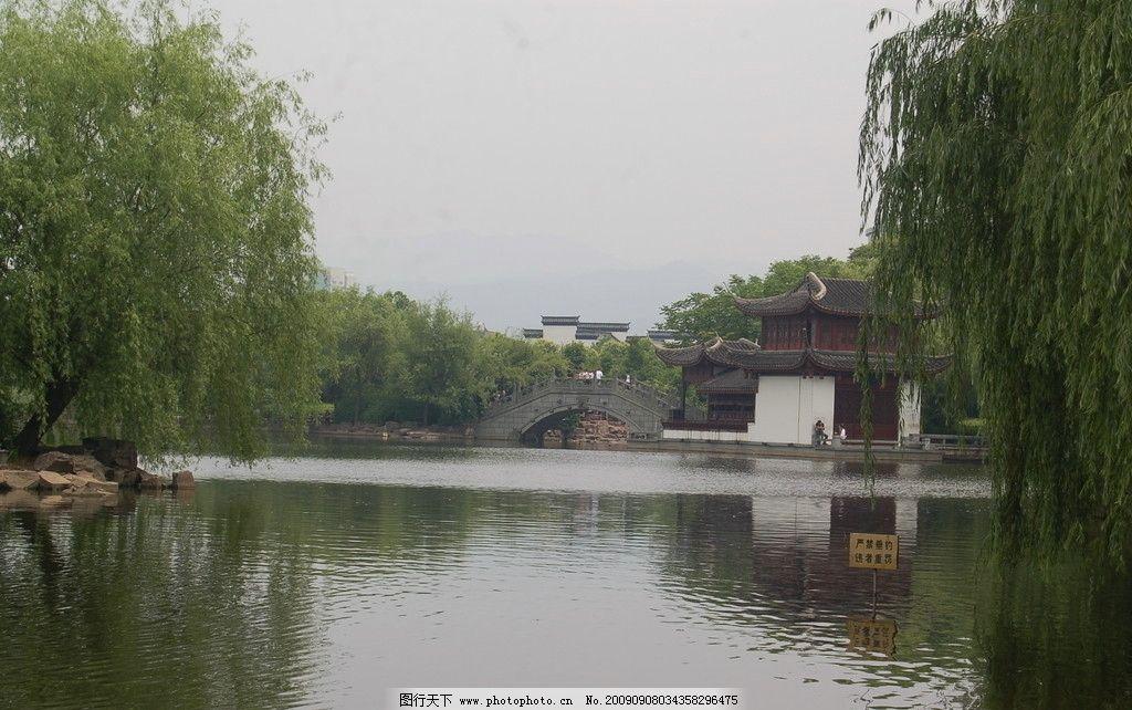 绣湖公园 桥水树 石头 亭子 自拍风景 旅游摄影